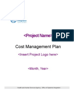 Cost Management Plan Template (4306)
