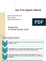 Angiotensin II in Septic Shock