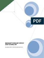 Microsoft Word 2007 Step by Step Tutorial