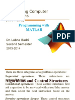4_Programming With MATLAB