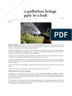Ammonia Pollution Brings Water Supply to a Halt