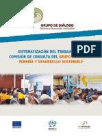 Sistematización del trabajo de la Comisión de Consulta Previa del Grupo de Diálogo, Minería y Desarrollo Sostenible (GDMDS)