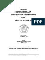 Diktat Estimasi Biaya Dan Hukum Kontrak Ok