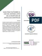 Guía práctica sobre el uso de LaTeX en la escritura de artículos científicos
