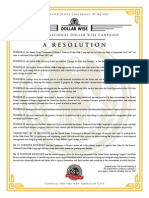 Conference of Mayors resolution on DollarWise, 2007