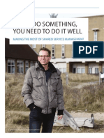 If you do something, you need to do it well | Making the most of Shared Service Management