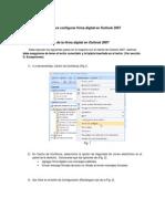 Guia Para Configurar Firma Digital en Outlook 2007