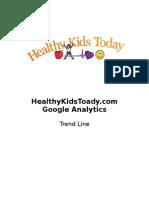 Google Analytics Trend Line