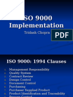 ISO 9000 - Implementation