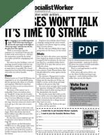 Bus Leaflet - If Bosses Wont Talk