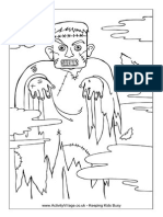 Frankenstein Monster Colouring Page