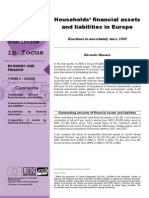 Households' financial assets and liabilities in Europe