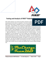 Testing and Analysis of FIRST Robotics Batteries