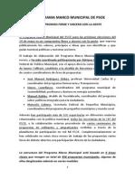 Las líneas maestras del programa marco municipal del PSOE 2015 (PDF)