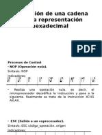 2.14 Obtencion de Cadenas Con Representacion Hedecimal