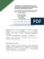 Rendimiento Académico y Las Dimensiones Personal y Contextual Del Aprendizaje Socioemocional