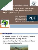 Erosion Prediction Using SWAT SP Pissarra 2014