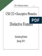 Distinctive Features 15March2011