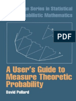 (Cambridge Series in Statistical and Probabilistic Mathematics) David Pollard-A User's Guide to Measure Theoretic Probability-Cambridge University Press (2001).pdf