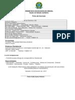 Ficha de Inscrição - Estagiário - Protocolo Eletrônico