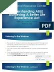 Understanding Able Webinar 3.26.15