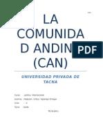 Ensayo La Comunidad Andina