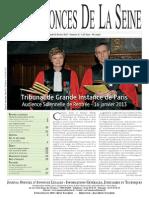 Edition Du Lundi 11 Fevrier 2013