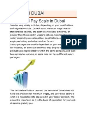Living in Dubai | Salary | Employee Benefits