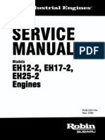 SUBARU EH025 ENGINE PARTS MANUAL