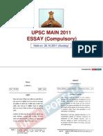 UPSC Mains 2011 Essay Compulsory