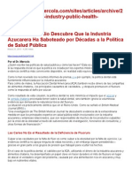 Azucar y Suindustria Dañan La Salud Publica