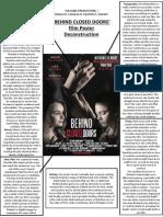 'Behind Closed Doors' Film Poster Deconstruction