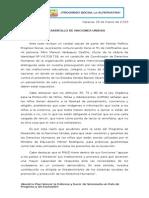 El partido Progreso Social consigna documento ante el PNUD en Caracas