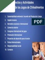 Proyectos y Actividades de la Industria de los Jugos de Chilealimentos