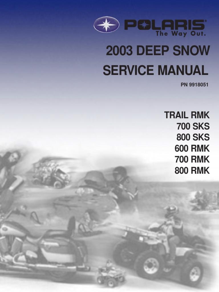 Polaris 2003 deepsnowservicemanual (1).pdf | Ignition System ...