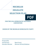 Michigan 2016 Delegates Election Plan