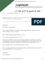 Lei 7166_96 _ Lei Nº 7166, De 27 de Agosto de 1996, Câmara Municipal de Belo Horizonte