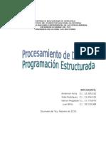 Procesamiento de Datos y Programacion Estructurada