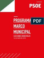 Programa Marco Municipal del PSOE