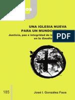 CJ 185, Una Iglesia Nueva para un Mundo Nuevo - JI González Faus, SJ