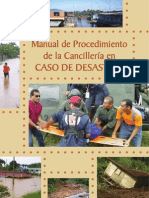 Panama_2009_Manual on Procedures for the Foreign Ministry in the Case of Disasters