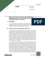 Report on UNDOF