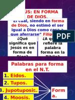 Jesùs, En Forma de Dios.