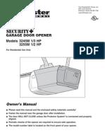 Garage Door Opener Operation