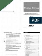 Instruction Manual Moisture Analyzer