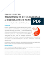Understanding the Difference between Attribution and Media Mix Modeling