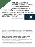 Trucos y Consejos Royal Revolt