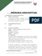 2.1 Memoria Descriptiva