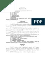 CF - artigos 59 a 69 da CF