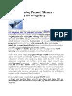 Rahasia Teknologi Pesawat Siluman